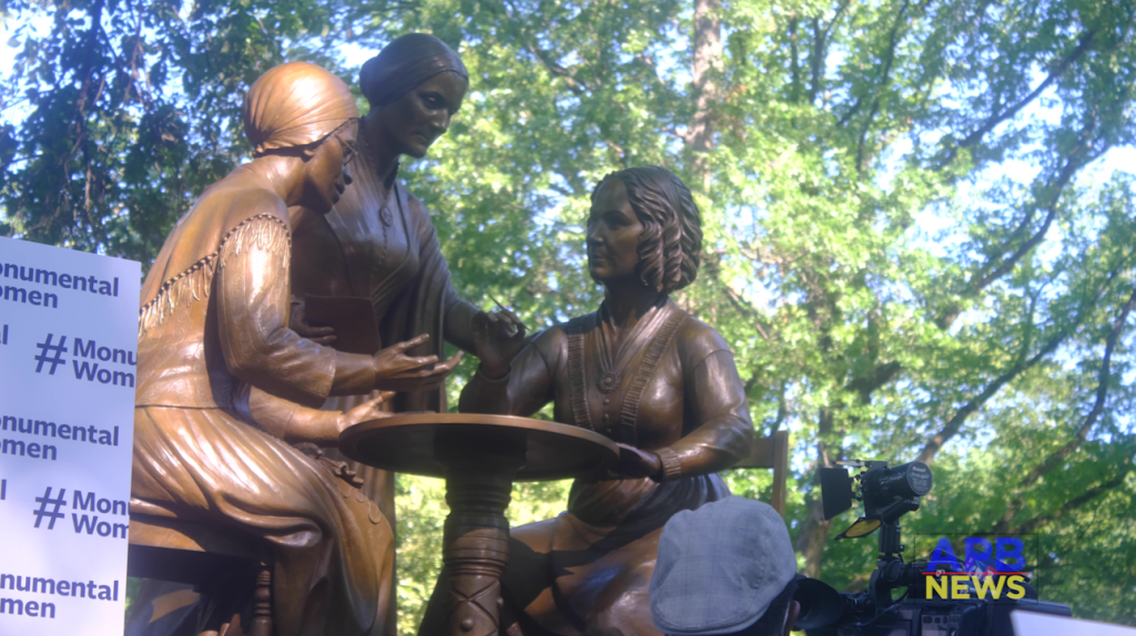 Unveiling of Monumental Women's First Statue of Real Women in Central Park